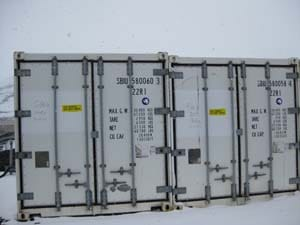 Freezers full of very valuable cargo, bound for the United States