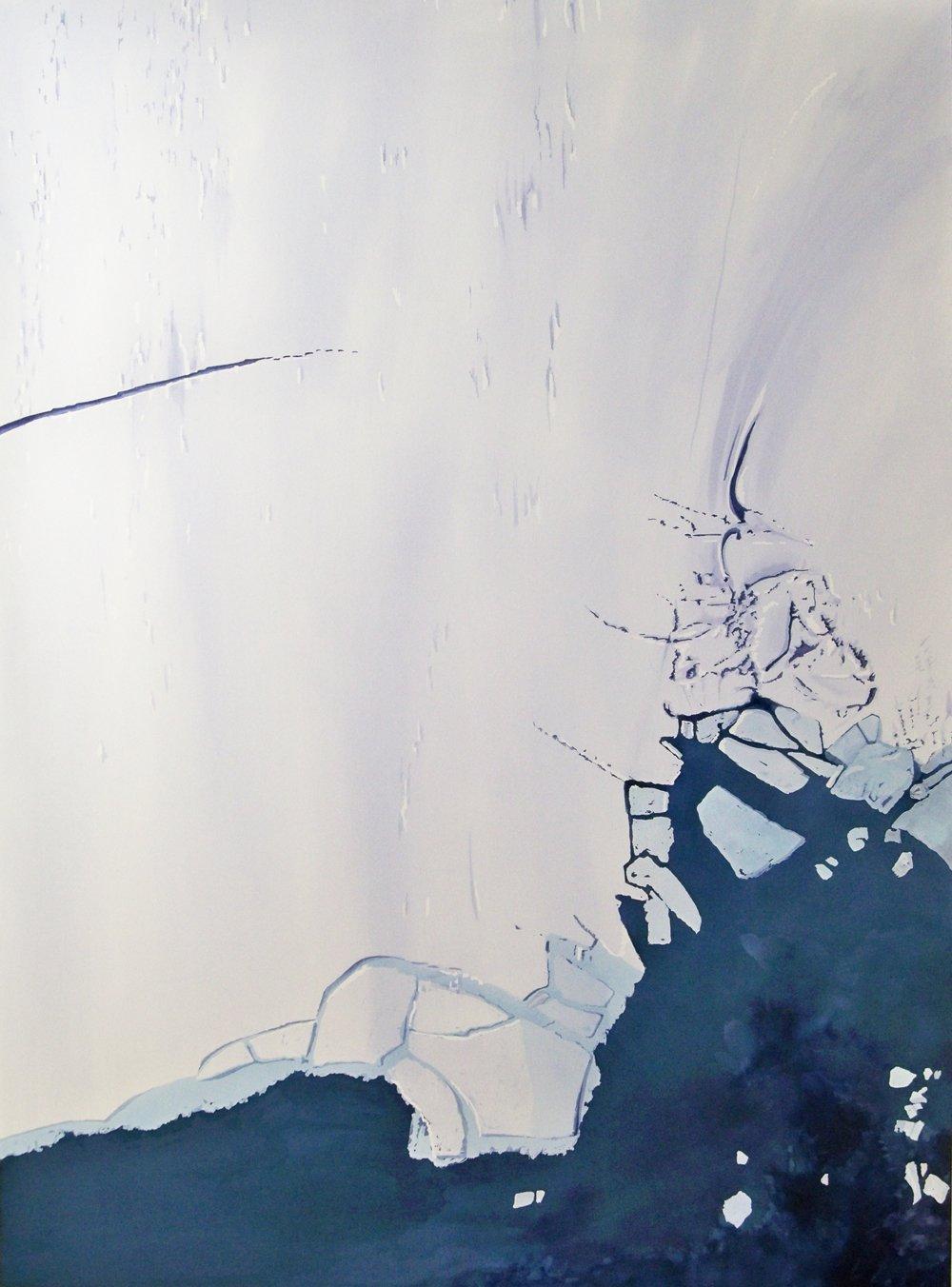 "Crack; acrylic; 40"" x 30""; 2011"